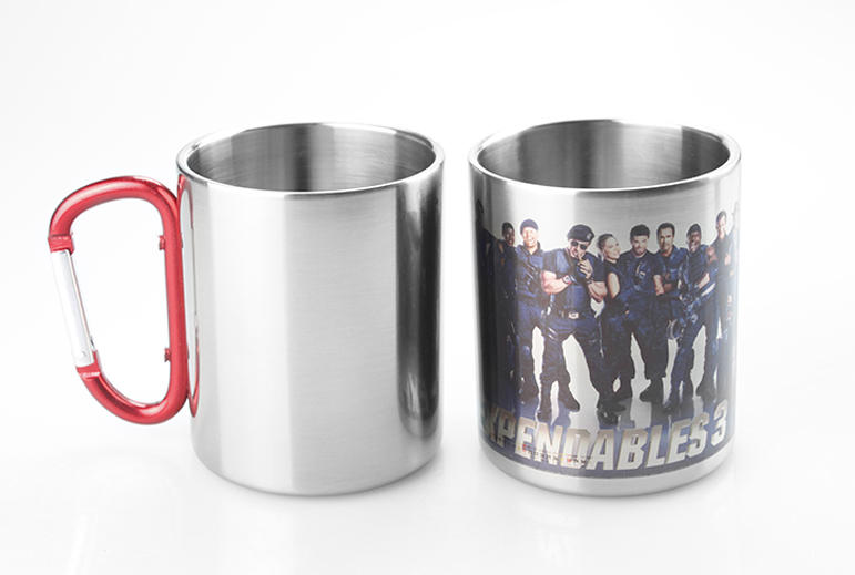 Sublimation Stainless Steel Mug with Red Handle