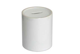 White Ceramic Saving Box