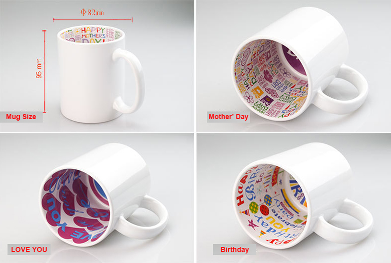 Sublimation Inner Color Theme/LOVE YOU/HAPPY BIRTHDAY/MERRY CHRISTMAS Mug