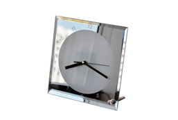20x20cm Mirror Edge Crystal Clock